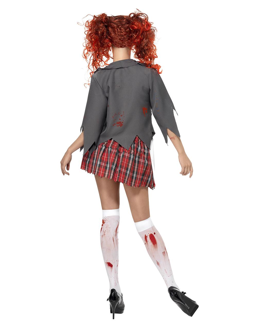 Zombie Schoolgirl Costumes High School Halloween Disguise School Uniform Horror Costumes