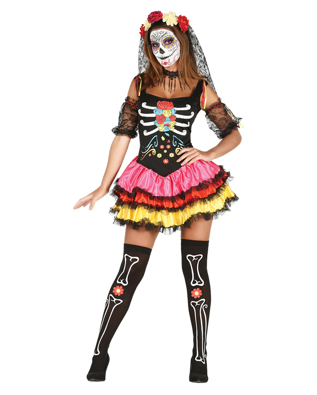 day-of-the-dead-catrina-costume - sugar skull clothing - day