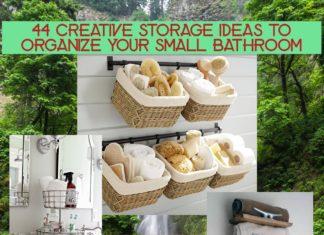 44 Creative Storage Ideas to Organize Your Small Bathroom. rinawatt.com