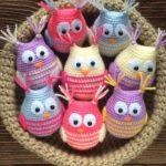 Crochet Cute Owls Free Pattern