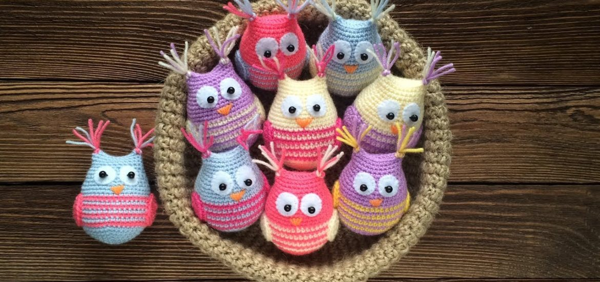 Crochet Cute Owls Free Pattern