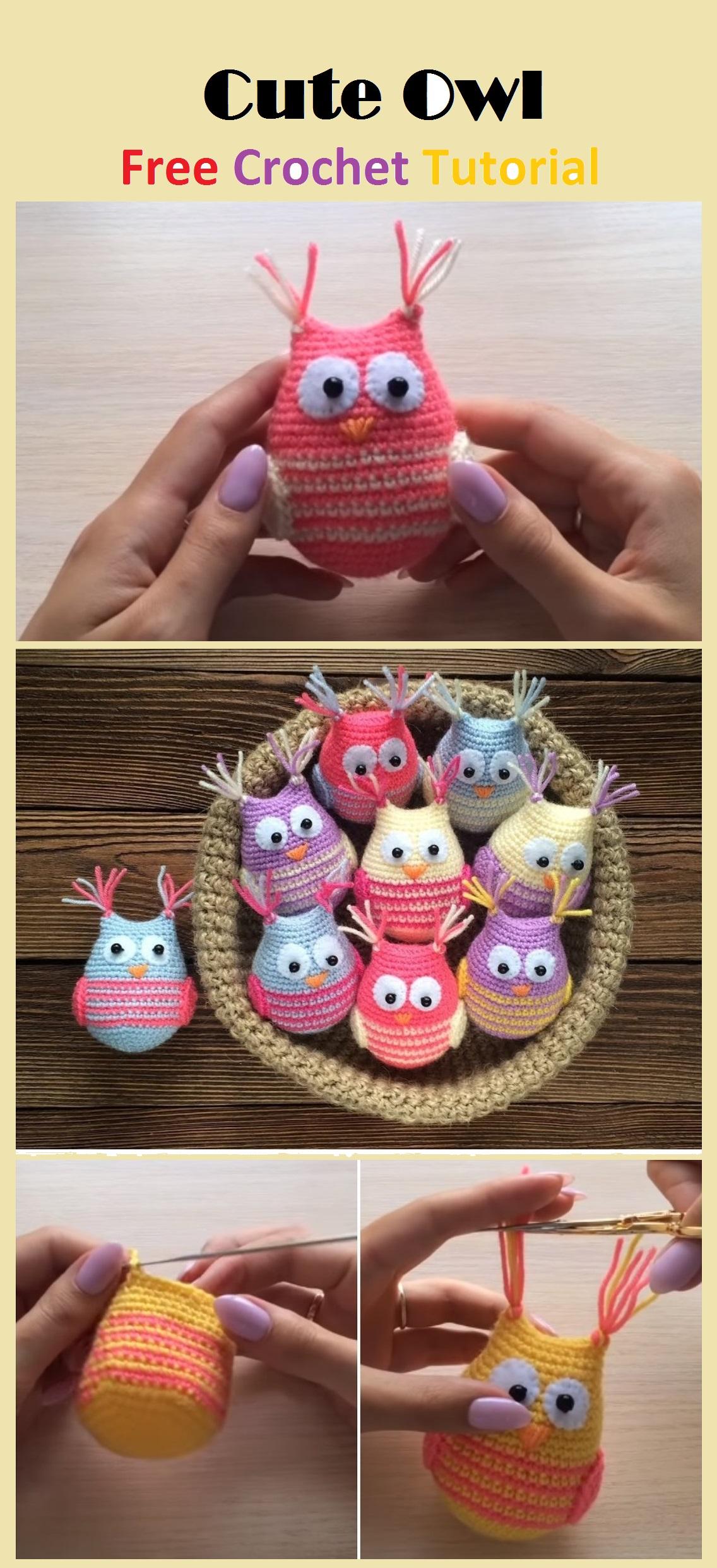 Amigurumi Crochet Owl Free Patterns Instructions: | Búhos de ... | 2482x1136