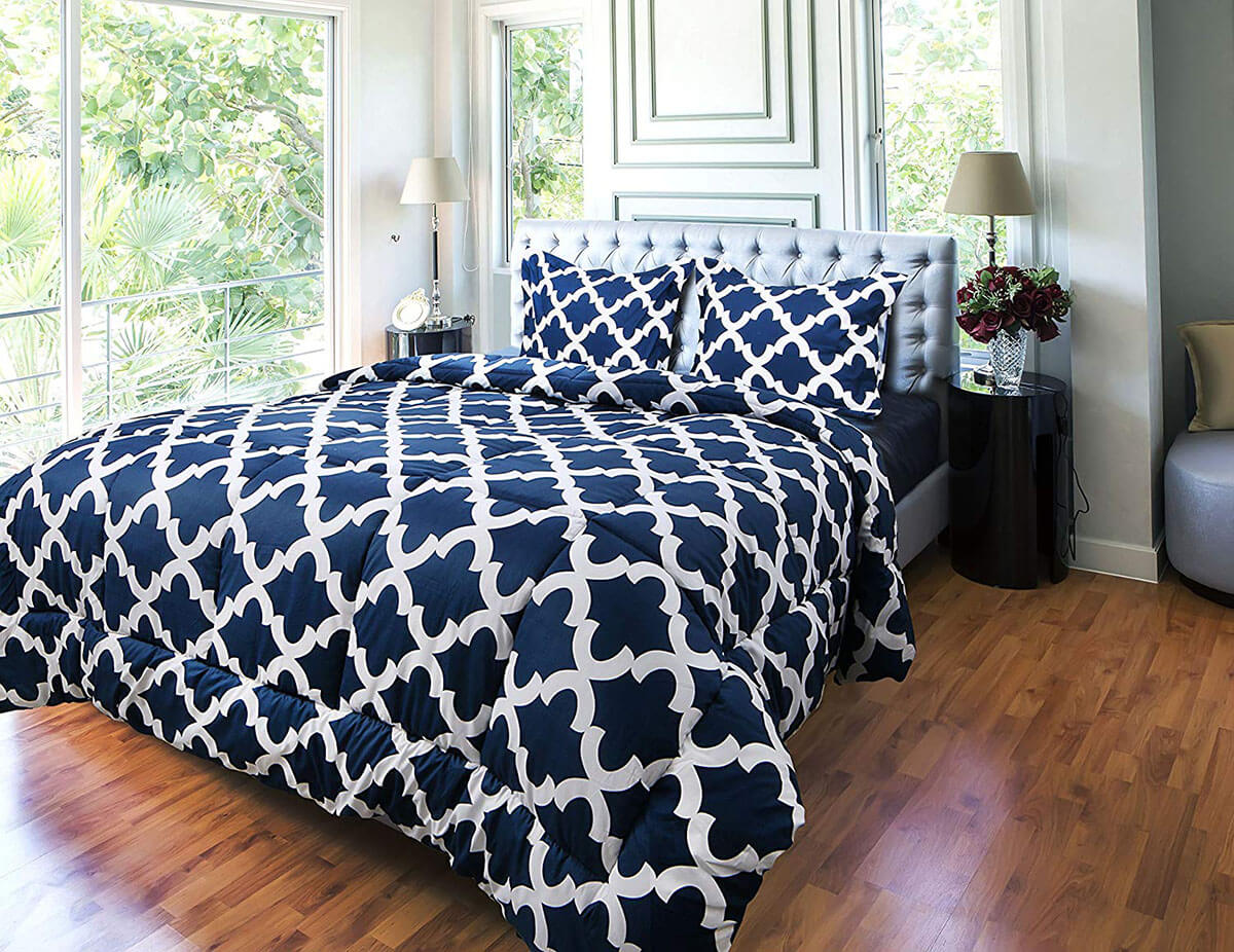 Regal Patterned Bedding Featuring Down Alternative