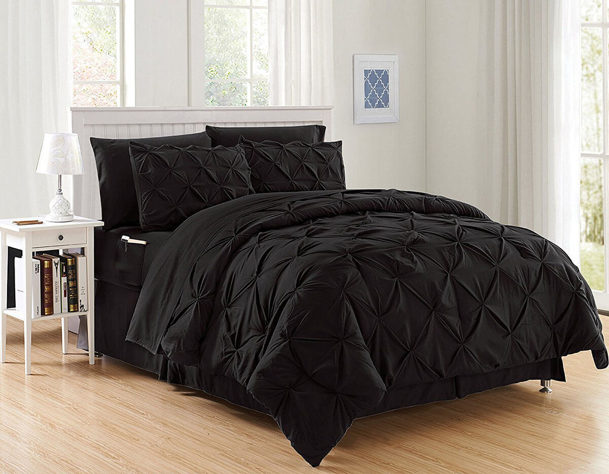 Six-Piece Chic Side-Pocketed Bedding