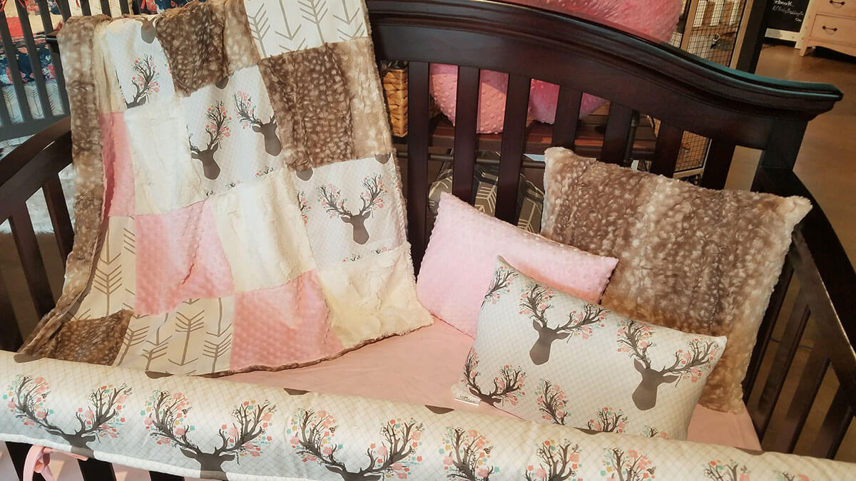 Posh and Pink Stag-Inspired Bedding